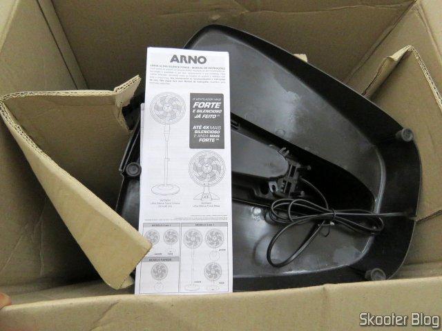 Fan Arno Ultra Silence Force 40cm, on its packaging.