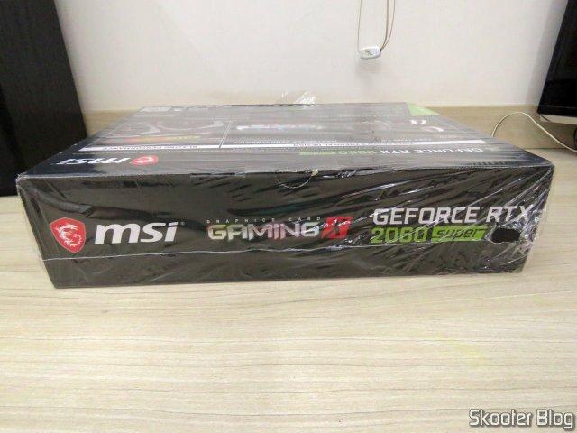 Placa de Vídeo MSI Gaming GeForce RTX 2060 Super 8GB, em sua embalagem.