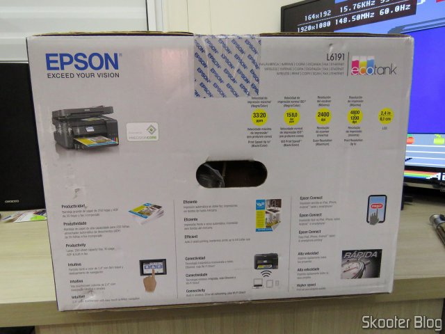 Epson EcoTank L6191 Multifunction Printer, on its packaging.