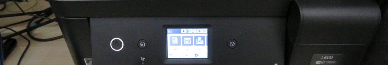 Multifuncional Epson EcoTank L6191, em funcionamento.