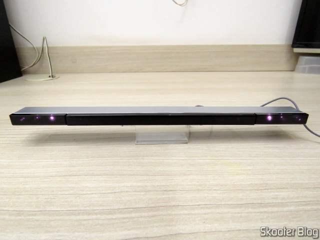 Wii Sensor Bar USB, em funcionamento.
