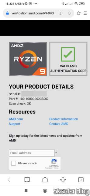 AMD Authentication Code Validation.