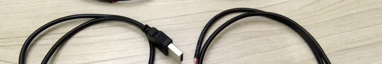 4 Cabos de Alimentação com Plug USB e 2 Fios 50cm.