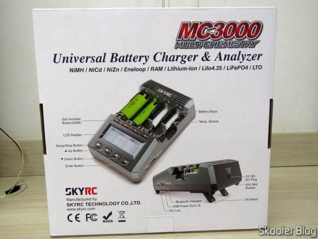 SKYRC MC3000 Smart Battery Charger, on its packaging.