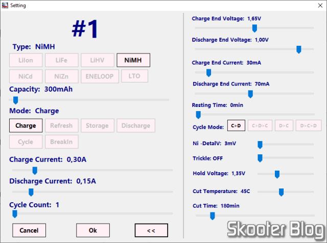 Aplicativo para PCs Windows do Carregador de Baterias Inteligente SKYRC MC3000.