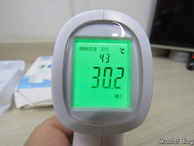 Cofoe KF-HW Non-Contact Digital Infrared Thermometer-001, operation.