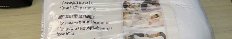 Travesseiro Minhocão com Capa, Fibrasca, Branco, 150x21x15 cm, em sua embalagem.