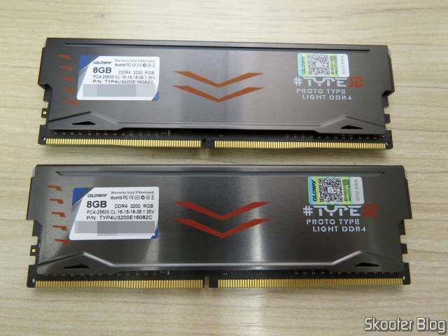 Gloway DDR4 16GB Memory Modules (2x8GB) 3200 MHz RGB.