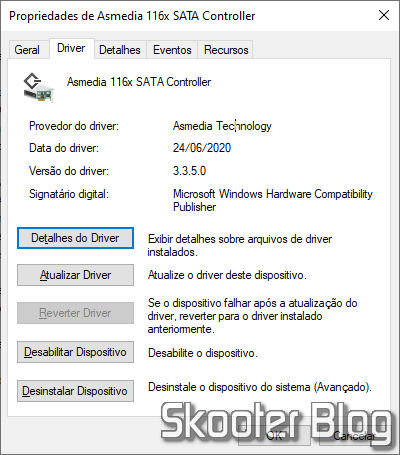 Asmedia 116x SATA Controller driver found by Snappy Driver Installer.