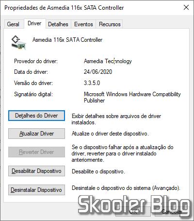 Driver Asmedia 116x SATA Controller encontrado pelo Snappy Driver Installer.