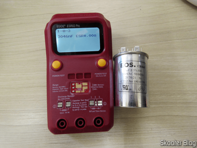Testing the new capacitor on the BSIDE ESR02 Pro.