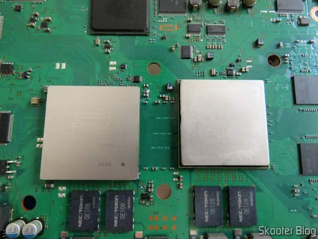 CPU e GPU após a limpeza com álcool isopropílico.