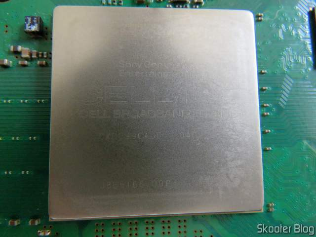 CPU após a limpeza com álcool isopropílico.