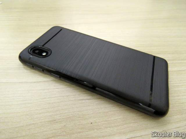3D Antishock Glass Film for Samsung Galaxy A01 Core, already installed.