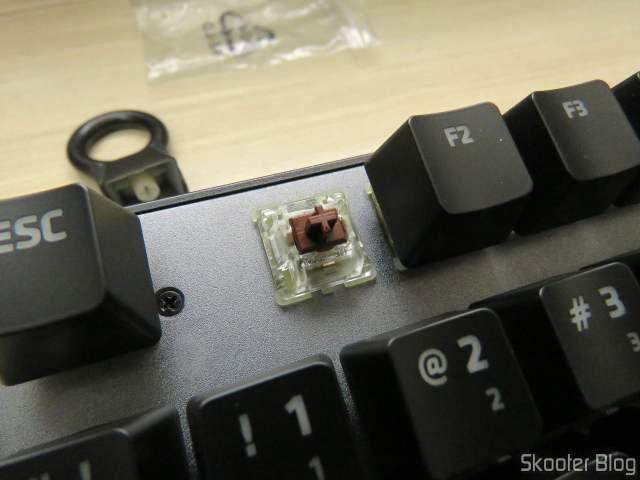Switch Cherry MX Brown do Teclado Mecânico Xanova Magnetar RGB XK700.