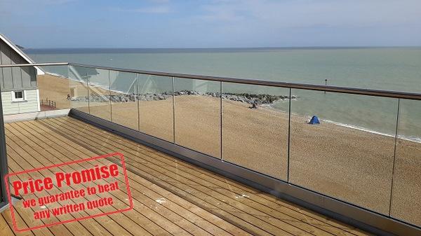 Bespoke External Glass Balustrades In Kent