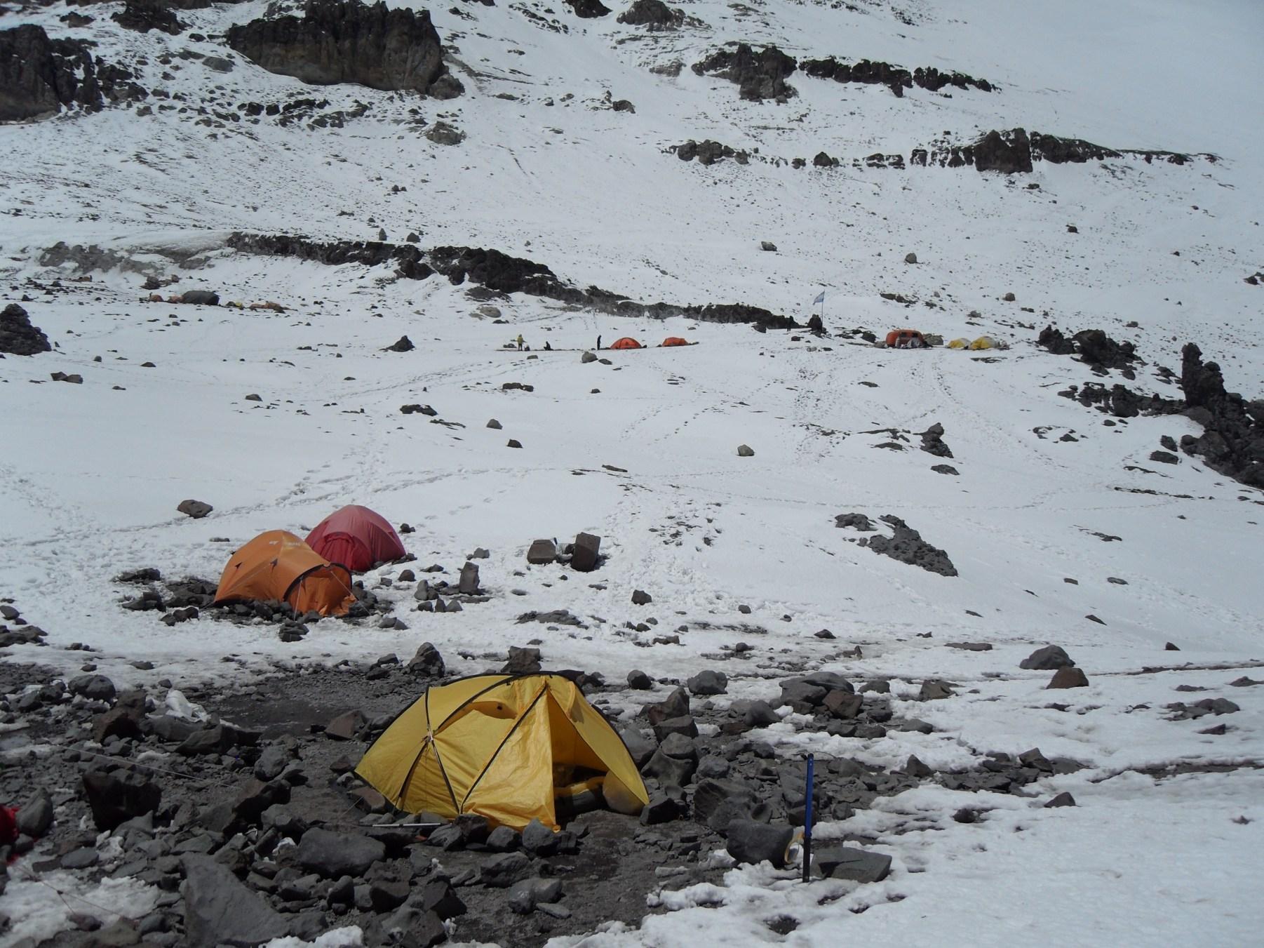 Mój namiot na Przełęczy Kondorów