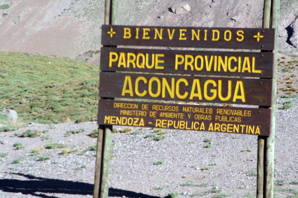 Wejście do Parku Aconcagua