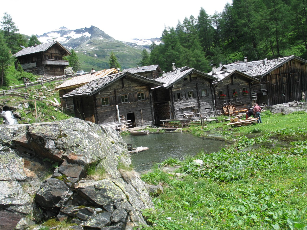 Stara alpejska wioska