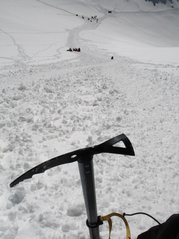 W drodze na szczyt, za tzw. Siodłem