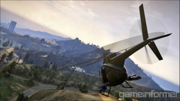 GTA V Helicopter Mountains