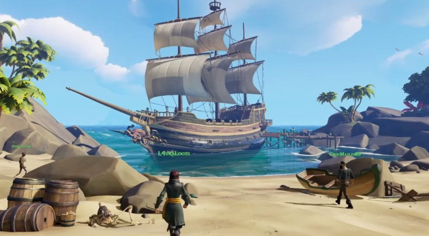 استعراض للـCOOP في لعبة Sea of Thieves