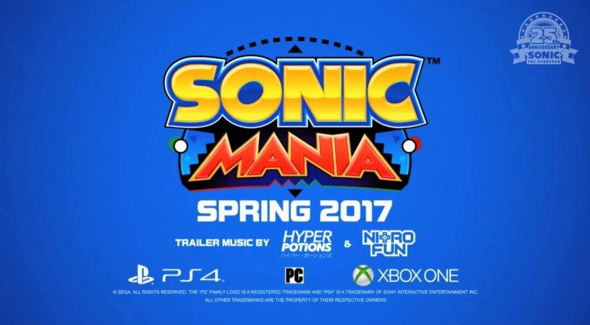 الكشف عن أول عرض من Sonic Mania