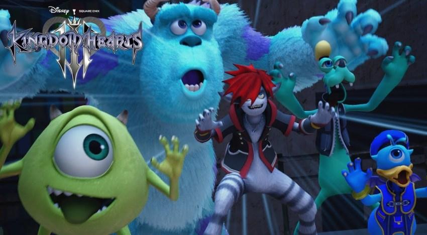 استعراض عالم افلام Monster Inc في لعبة Kingdom Hearts 3 للمرة الاولي