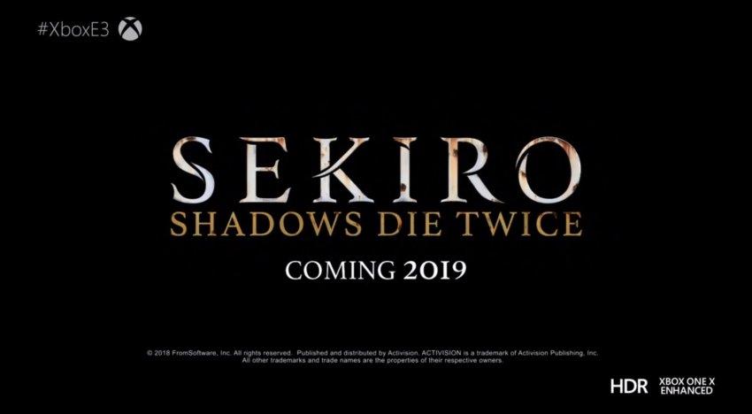 الإعلان عن لعبة Sekiro: Shadows Die Twice في مؤتمر Xbox لـ E3 2018