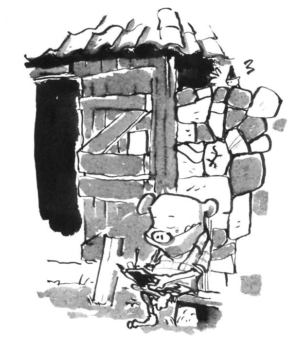 udstilling tegner Palivaren Skræntskov Jon gris