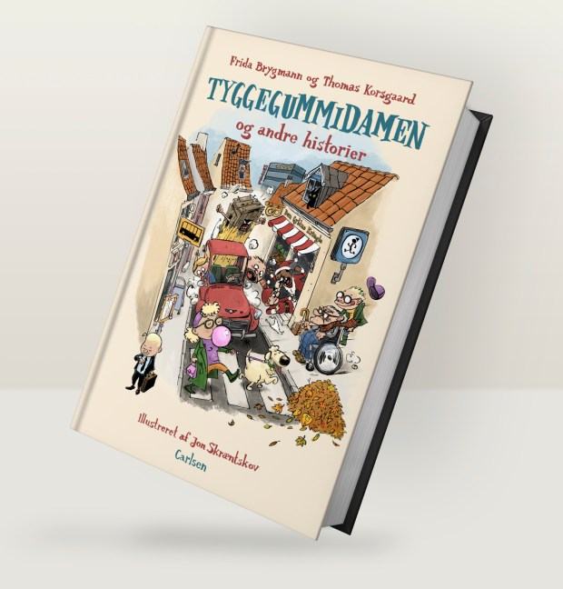 Tyggegummidamen - og andre historier Jon Skræntskov tegner
