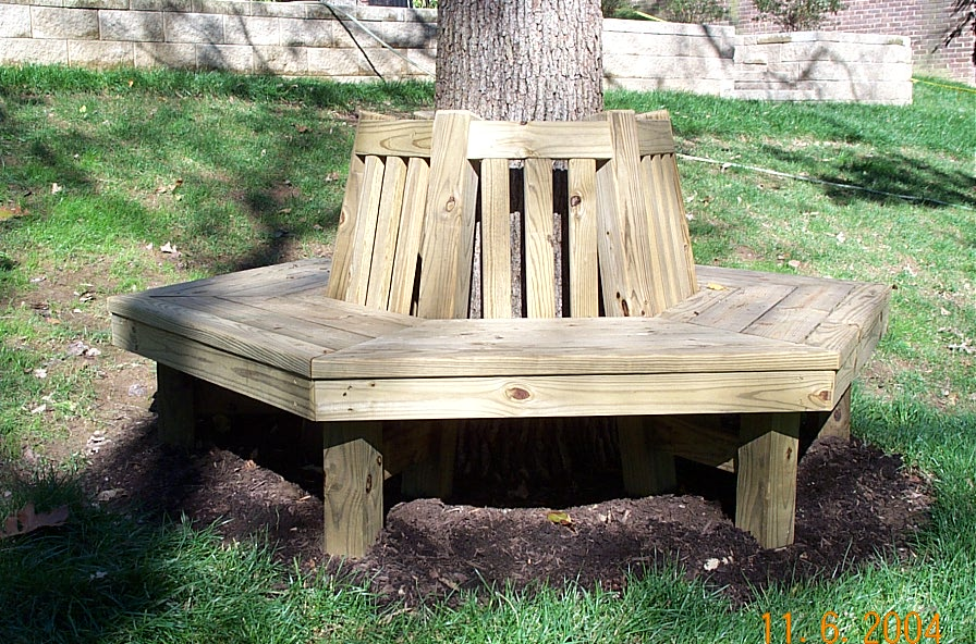 Woodwork Wrap Around Tree Bench Plans PDF Plans