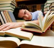 student falling asleep