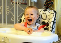 baby on  Baby High Chair