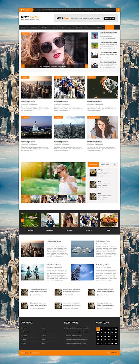 NewPaper WordPress theme