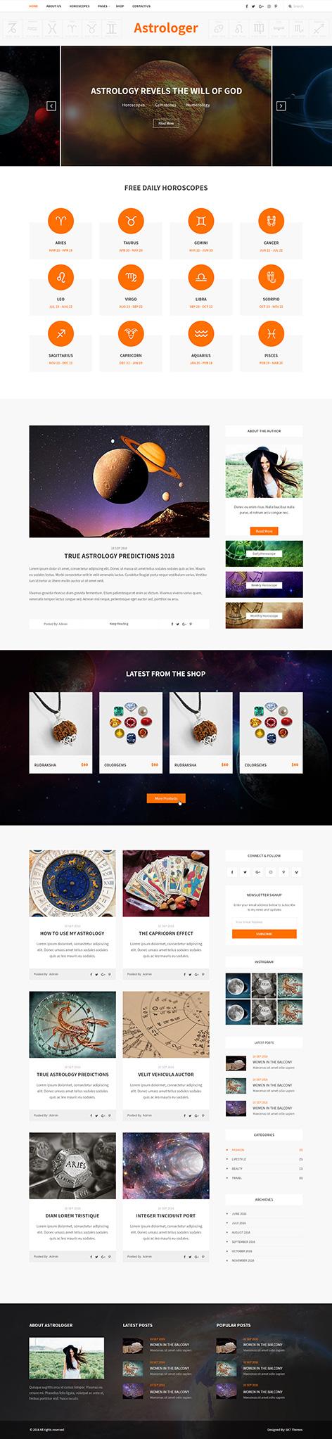 jyotish WordPress theme