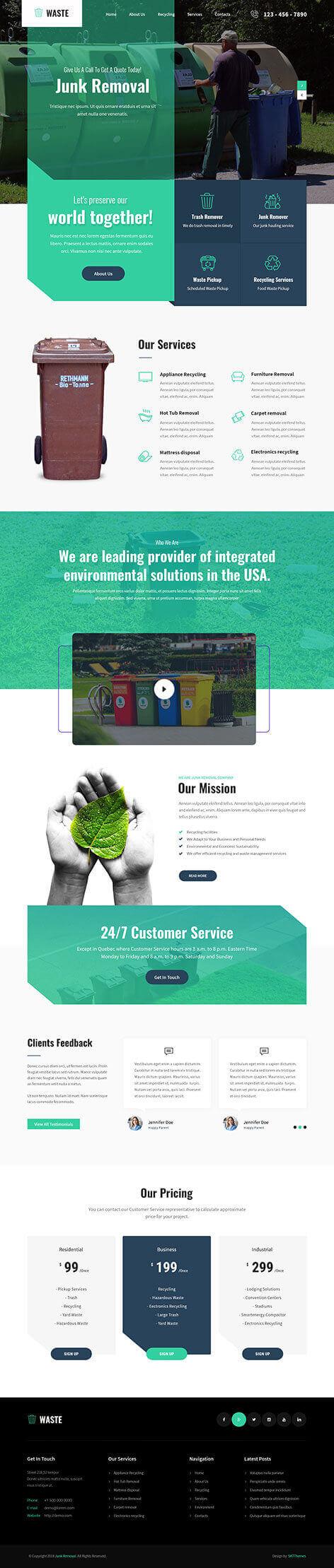 Waste Management WordPress theme2