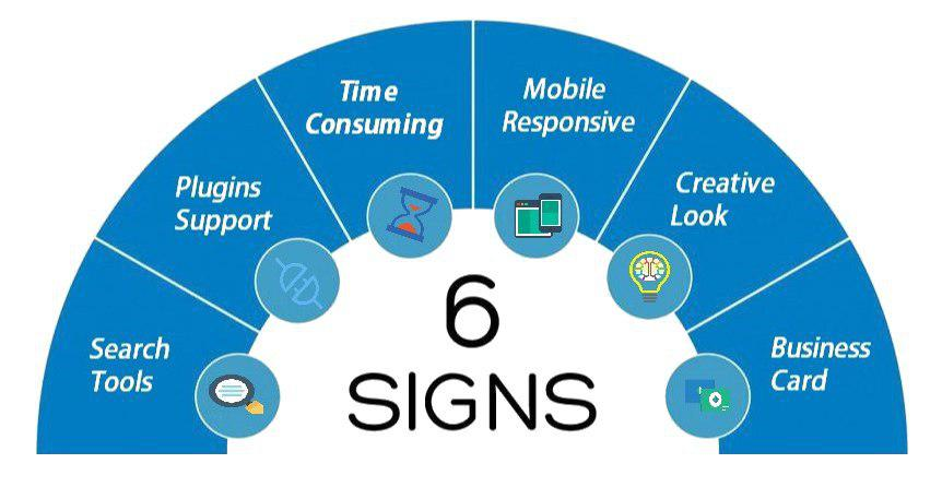 6 signs for new website