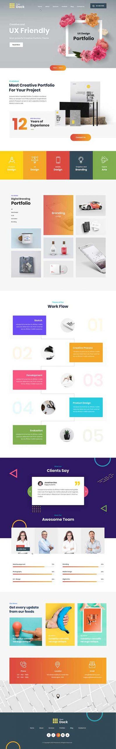 Responsive photo selling WordPress theme