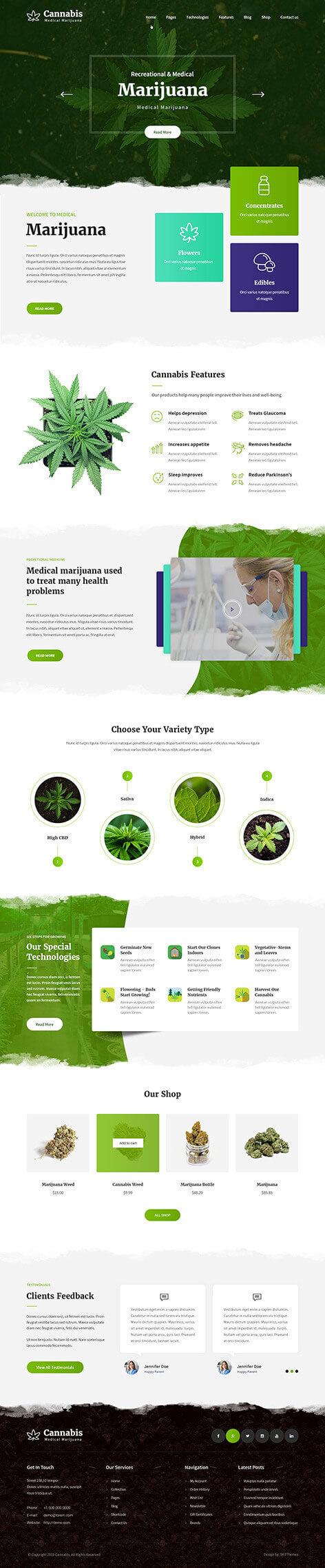 medical marijuana WordPress theme