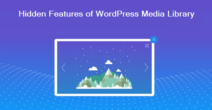 features of WordPress media library