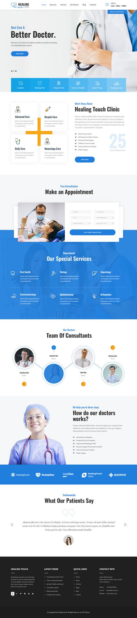 responsive medical WordPress theme2