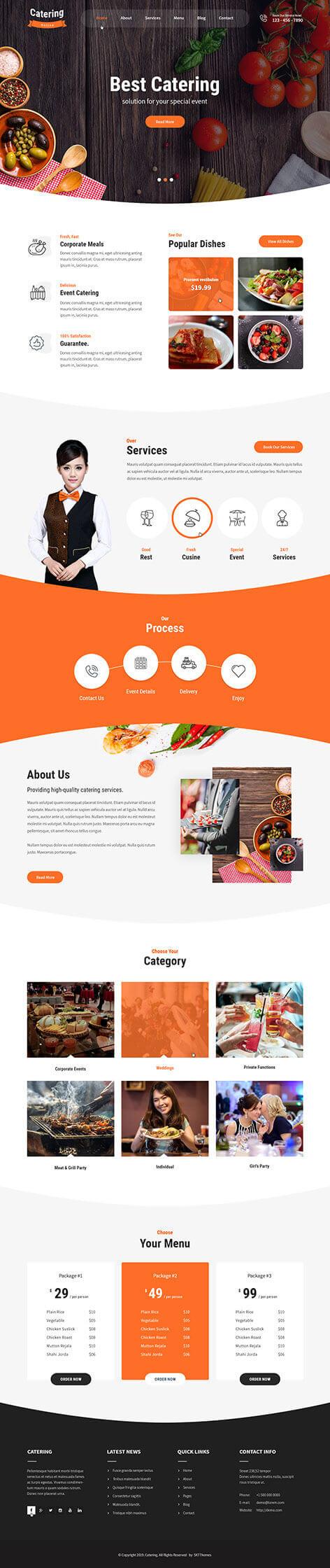 catering food WordPress theme