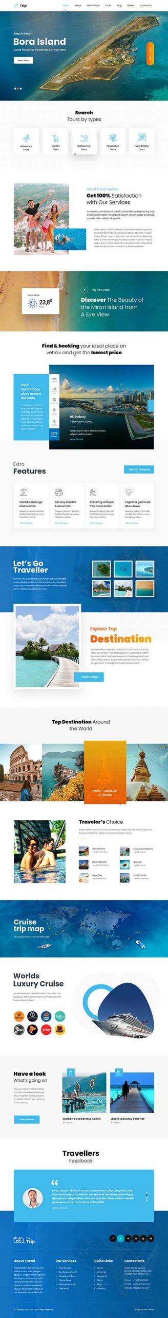 tours and travel WordPress theme