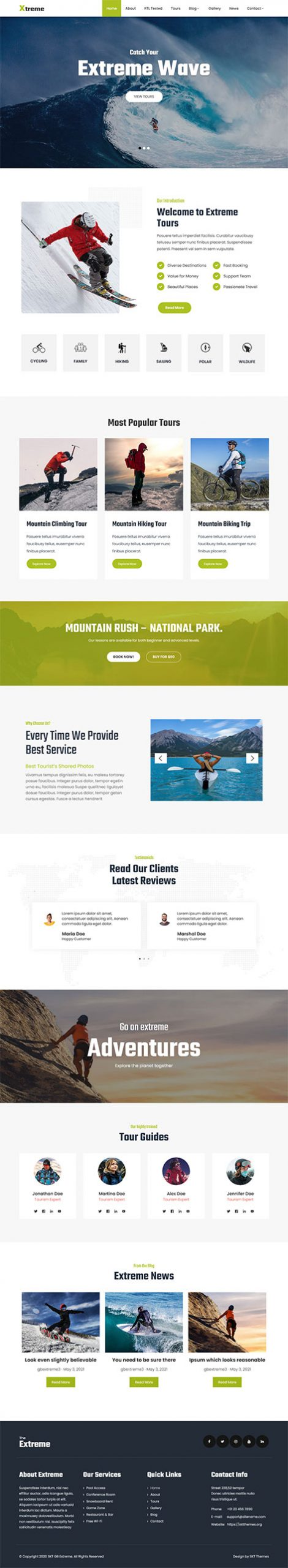 outdoor adventure WordPress theme