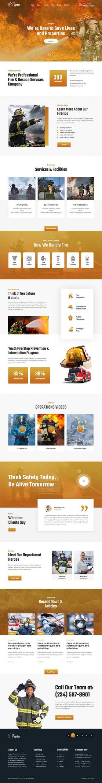fire safety WordPress theme