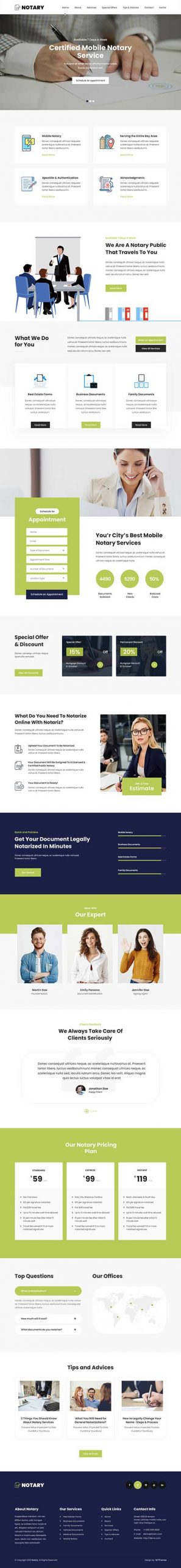 legal services WordPress theme