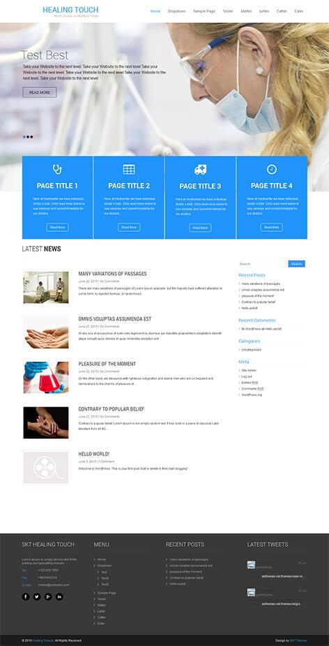 SKT Medical Responsive WordPress Theme  SKT Themes