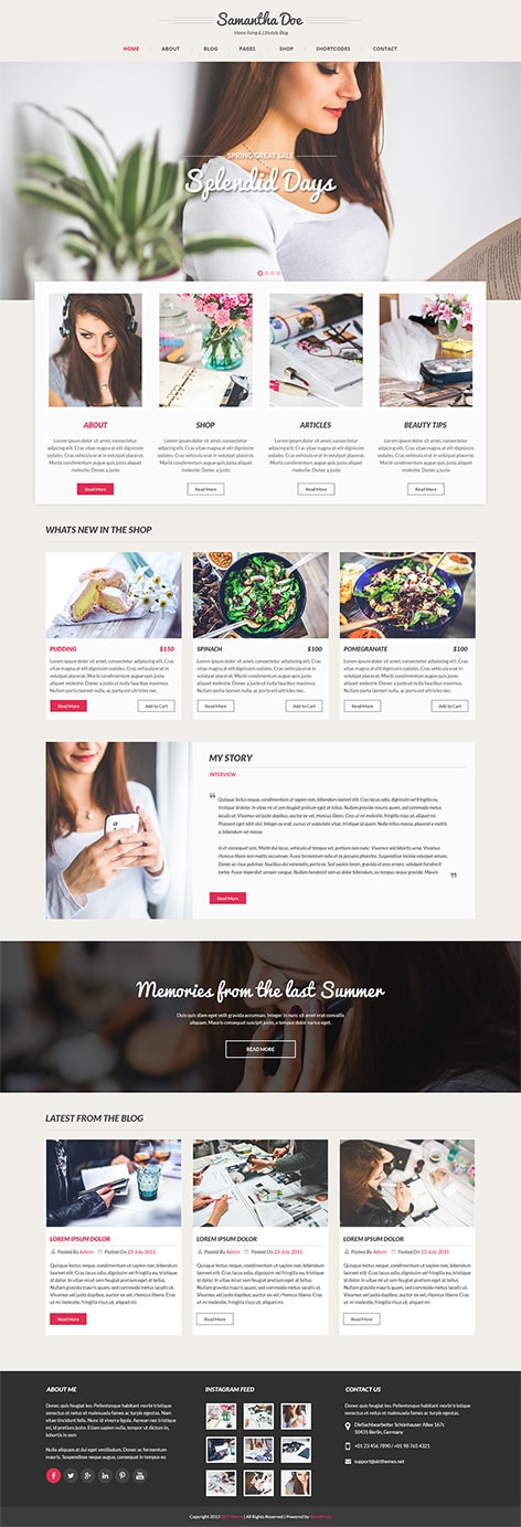 girly wordpress theme