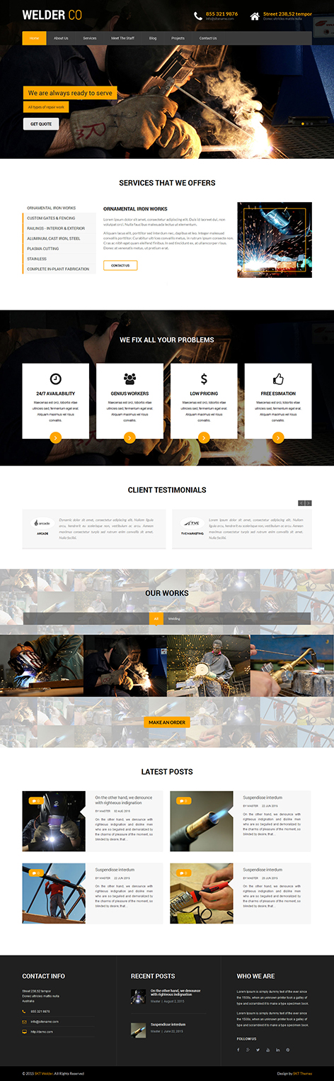 welding WordPress theme